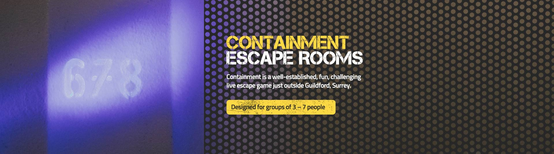 Containment Live Escape Game Guildford, London